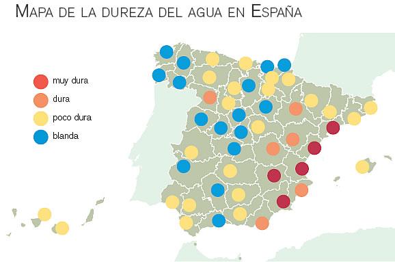 Mapa de la Dureza del Agua