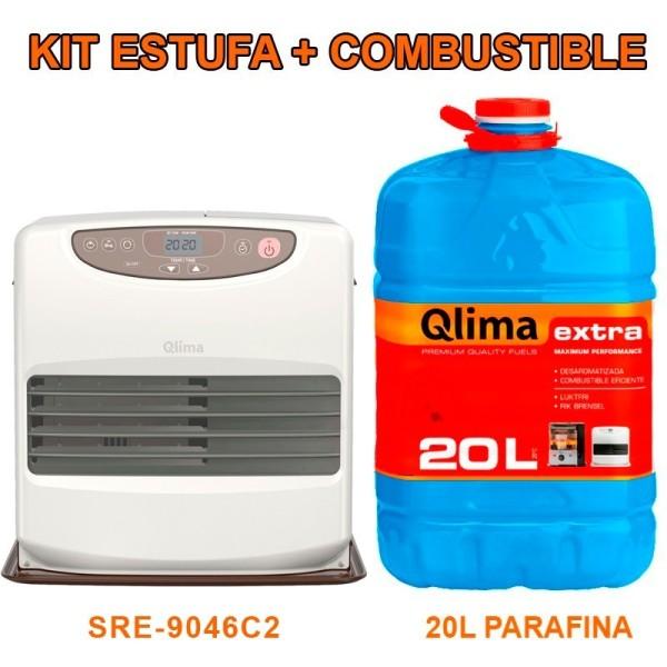 Estufa de parafina SRE 9046 C2 con combustible