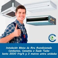 Instalación Básica Aire Acondicionado Comercial hasta 3500 frig/h y 3 metros