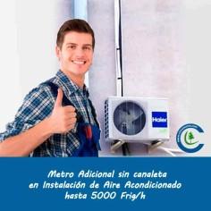 Metro Adicional Instalación Aire Acondicionado hasta 5000 frig/h