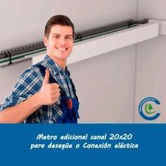 Canal Adicional 20x20 en Para desagüe o conexión eléctrica